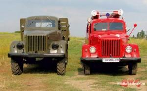 На этом фото отлично видна разница в высоте (115 мм) между ГАЗ-51 и ГАЗ-63