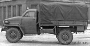 ГАЗ-63 образца 1944 года, испытавший на себе влияние ленд-лизовских автомобилей, стал первым грузовым вездеходом в СССР с односкатными колесами.