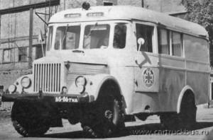 Автобус на шасси ГАЗ-63Е с кузовом типа «Аремкуз» для ВГСЧ производства Ворошиловградского ГАрЗ. Тула, 1970-е.