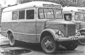Поздний вариант геофизического автобуса на шасси ГАЗ-63Е. Москва, 1970-е.