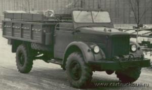 Опытный образец ГАЗ-63АВ. Машины с брезентовой крышей предназначались в первую очередь для десантников.