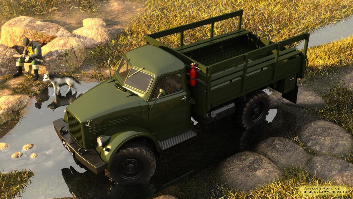 ГАЗ-63 на-охоте