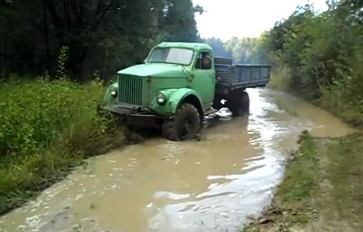 Газ 63 в грязи