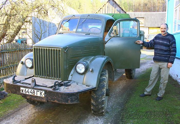 Гродненец до сих пор ездит на полувековом ГАЗ-63 с расходом 25 литров бензина
